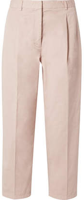 Acne Studios Tabea Cropped Cotton-twill Straight-leg Pants - Pastel pink