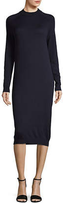 Max Mara Anselmo Knitted Silk Wool Shift Dress