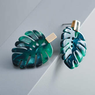 0012e8704 EVY Designs Monstera Leaf Earrings