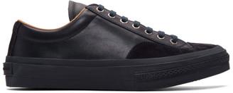 Dries Van Noten Navy Leather Sneakers