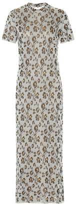 Paco Rabanne Jacquard knit maxi dress