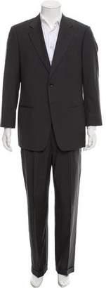 Armani Collezioni Wool Pinstripe Suit