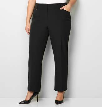 Avenue Wide Waist Rivet Trouser