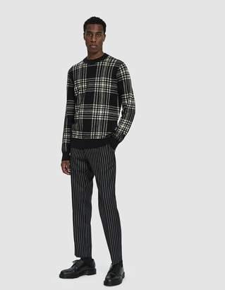 Dries Van Noten Knit Crewneck Sweater in Black