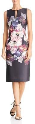 Adrianna Papell Tumbling Rose Scuba Dress