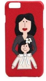 Dolce & Gabbana Mother & Daughter Textured Leather iPhone 6 Plus Case