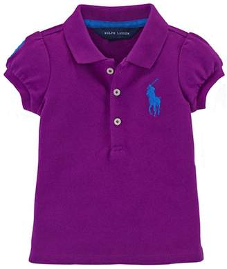 Ralph Lauren Girls Big Pony Cotton Polo Shirt