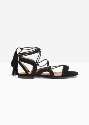 And other stories Suede Lace Up Tassel Sandal