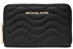 Michael Kors Michael Leather Zip-Around Card Case