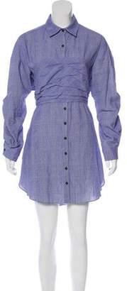 Rosie Assoulin Plaid Knee-Length Dress