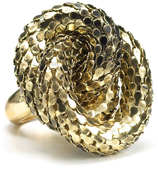 Kara By Kara Ross Snake Knot Ring