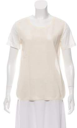 Moncler Leather Short Sleeve Top