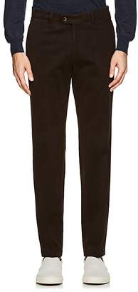 Hiltl Men's Cotton-Cashmere Flat-Front Trousers