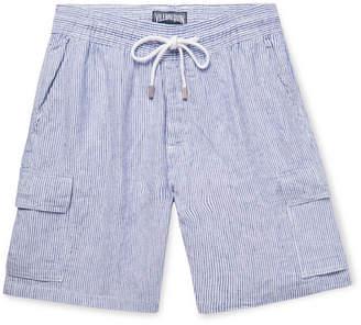 Vilebrequin Berrix Striped Slub Linen Cargo Shorts