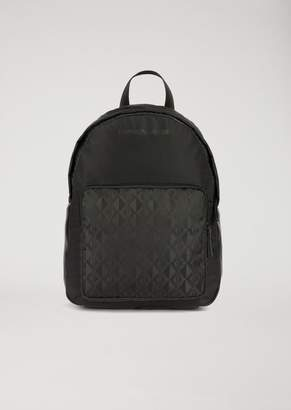 Emporio Armani Backpack With Front Pocket And Logo