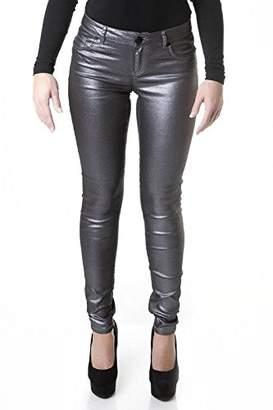 Suko Jeans Suko Women's Ponte Leggings -Stretchy Faux Leather Skinny Pants 18326