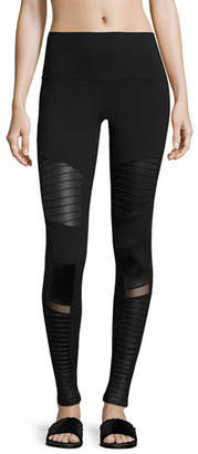 Alo Yoga Moto High-Waist Sport Leggings $114 thestylecure.com