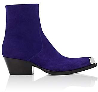 Calvin Klein Women's Metal-Tipped Suede Ankle Boots - Purple Size 8.5
