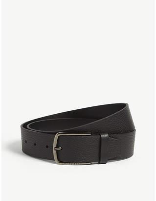 BOSS Sander pebbled leather belt