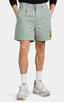 Double Rainbouu Men's Jungle Cotton Twill Shorts - Green