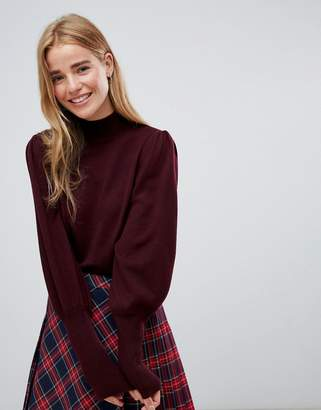 Asos DESIGN Sweater with Full Sleeves and Roll Neck