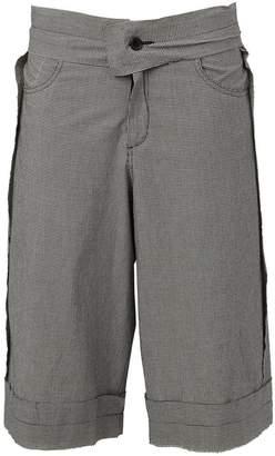 Yang Li raw edge shorts