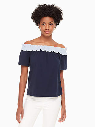 Kate Spade Off the shoulder knit top