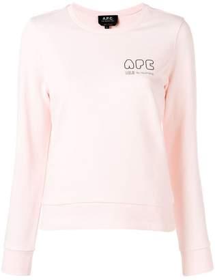 A.P.C. logo long-sleeve sweater