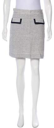 Brooks Brothers Linen Striped Skirt