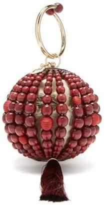 Rosantica By Michela Panero - Billie Bead And Tassel Ball Clutch - Womens - Red Multi