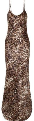 Nili Lotan Leopard-print Silk-satin Maxi Dress - Leopard print