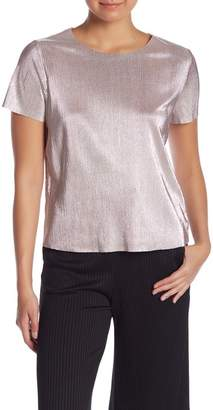 Kensie Metallic Accordion Knit Top