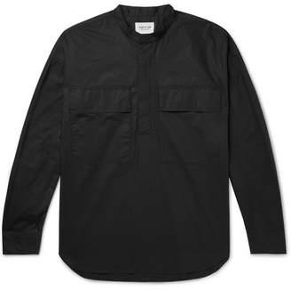 Fear Of God Oversized Grandad-Collar Supima Cotton-Poplin Half-Placket Shirt