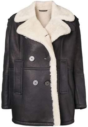 Neil Barrett oversized leather jacket
