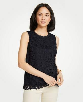 Ann Taylor Floral Lace Shell