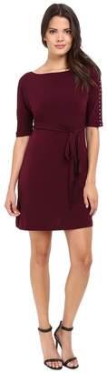 Jessica Simpson Solid Ity Dress with Sash Women's Dress
