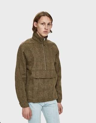 Co Pop Trading Drs Half Zip Tweed Jacket