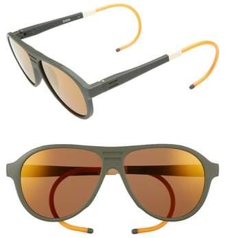 Toms Traveler Zion 57mm Aviator Sunglasses