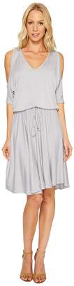 Three Dots Cold Shoulder Dress Women's Dress