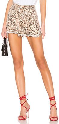 One Teaspoon Vanguard Mid Rise Denim Skirt.