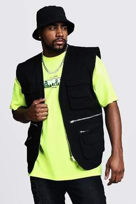 Big & Tall Sleeveless Utility Cotton Vest