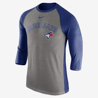 Nike Tri Raglan (MLB Blue Jays) Men's 3/4 Sleeve Top