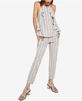 BCBGeneration Striped Drawstring Ankle Pants
