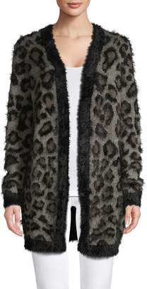 Lord & Taylor Leopard-Print Open-Front Cardigan