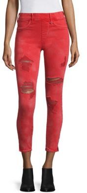 True Religion Runway Distressed Leggings $169 thestylecure.com