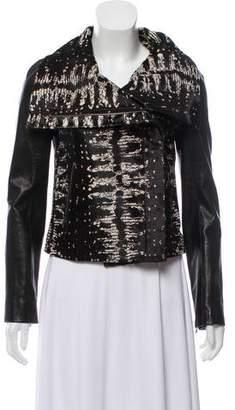Diane von Furstenberg Patterned Leather Jacket