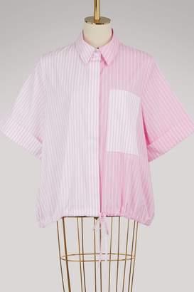 Victoria Beckham Victoria Striped short-sleeved shirt