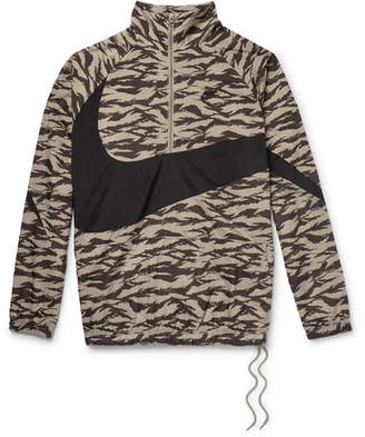 Nike Sportswear Vaporwave Packable Printed Nylon Half-Zip Jacket