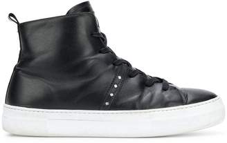 Just Cavalli studded hi-top sneakers