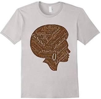 Natural Hair Afro Word Art for Black Women T-Shirt